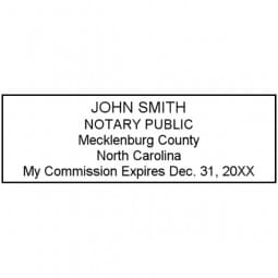 North Carolina Notary Pre-Inked Stamp - 15/16 x 2-13/16