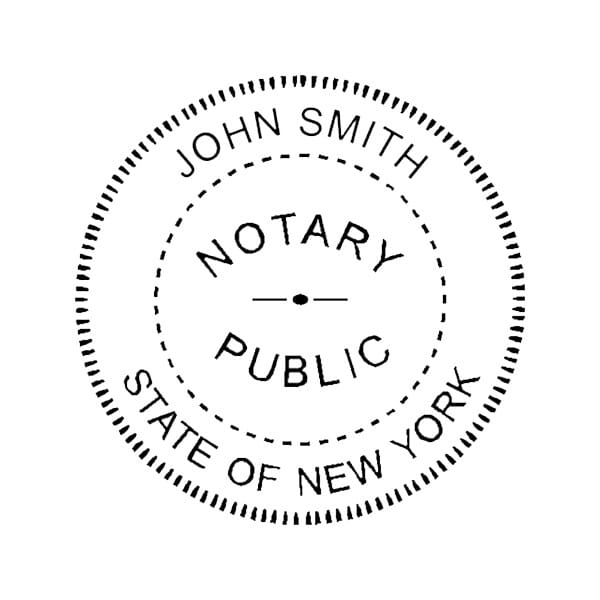 New York Notary Pre-Inked Pocket Stamp - 2 Diam. Round