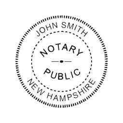 New Hampshire Notary Pre-Inked Pocket Stamp - 2 Diam. Round
