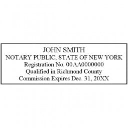 New York Notary Self-Inking Stamp - 7/8 x 2-3/8
