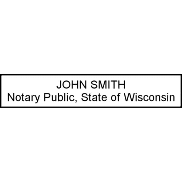 Wisconsin Notary Pre-Inked Stamp - 15/16 x 2-13/16