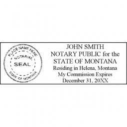 Montana Notary Pre-Inked Pocket Stamp - 7/8 x 2-3/8