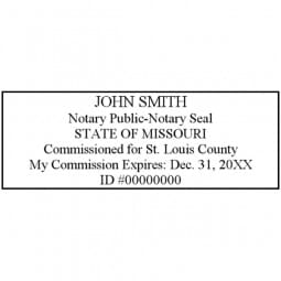 Missouri Notary Pre-Inked Pocket Stamp - 7/8 x 2-3/8