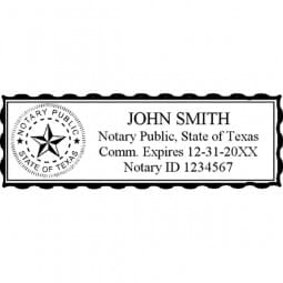 Texas Notary Pre-Inked Stamp - 15/16 x 2-13/16