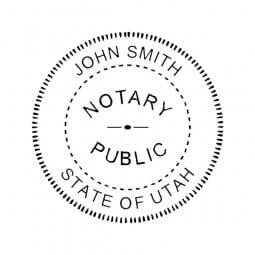 Utah Notary Pocket Seal - 1-5/8 Diam. Round