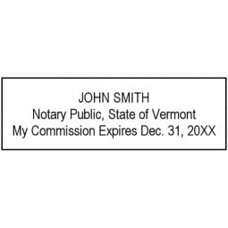 Vermont Notary Pre-Inked Stamp - 15/16 x 2-13/16