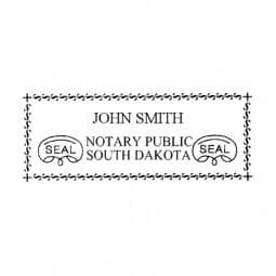 South Dakota Notary Self-Inking Stamp - 7/8 x 2-3/8