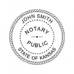 Kansas Notary Desk Seal - 1-5/8 Diam. Round