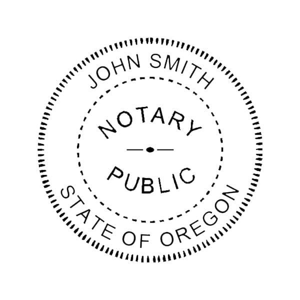 Oregon Notary Pre-Inked Pocket Stamp - 2 Diam. Round